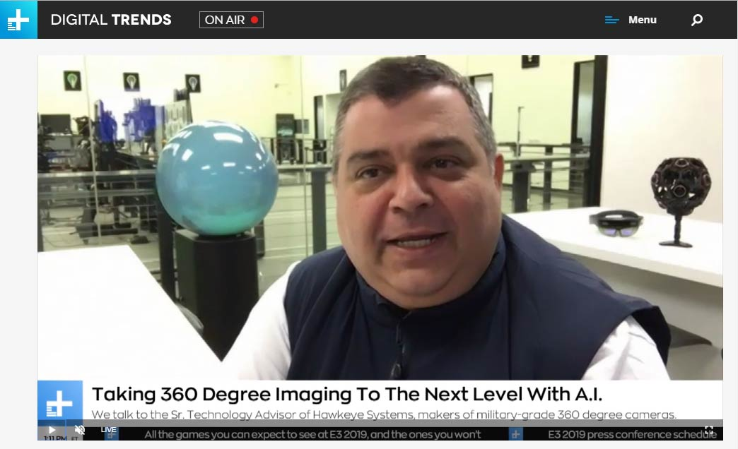 Michael Mansouri discussing 360 Degree Video and AI on DT Live